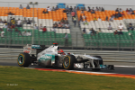 Michael Schumacher, Mercedes GP, India practise and qualifying 2011