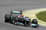 Michael Schumacher, Mercedes GP, Brazil qualifying 2011