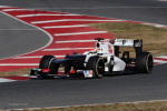 Sergio Perez, Sauber, second day of testing at Barcelob