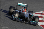 Michael Schumacher, Mercedes GP, the third day of F1 testing at Barcelona 2012