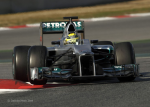 Nico Rosberg, Mercedes GP, the first day of testing second test barcelona 2012