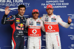 Mark Webber, Lewis Hamilton, Jenson Button, Brazil Qualifying 2012