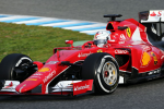 Sebastian Vettel, Ferrari, Jerez Test 2015 day two