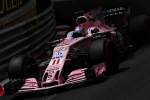 Sergio Perez, Force India, Monaco Thursday 2017
