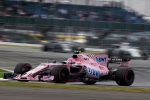 Esteban Ocon, Force India, Silverstone Sunday 2017
