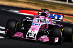 Sergio Perez, Force India, Silverstone Sunday 2018