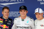 Sebastian Vettel, Nico Rosberg, Valtteri Bottas, Hungaroring Saturday 2014